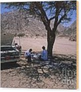 Lunchtime In The Desert Of Sinai Wood Print