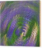 Lupine Swirl Wood Print