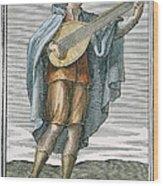 Lute, 1723 Wood Print