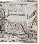 Lutheran Religious Refugees, Fleeing Wood Print by Everett