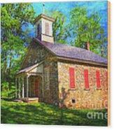 Lutz-franklin Schoolhouse Wood Print by Paul Ward