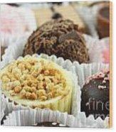 Luxury Individual Chocolates Wood Print