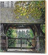 Lychgate To St Paul's Church - Scropton Wood Print