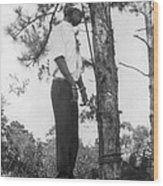 Lynched African American Man Hanging Wood Print