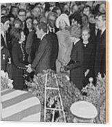 Lyndon Johnson Funeral. President Nixon Wood Print by Everett