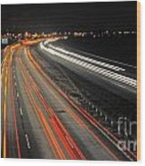 M5 At Night Wood Print