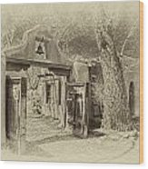 Mabel's Gate As Antique Print Wood Print