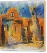Mabel's Gate Watercolor Wood Print