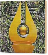 Mable Falls Golden Sculpture Wood Print