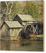 Mabry Mill In Winter Wood Print
