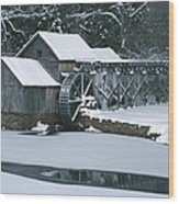 Mabry Mill Winter Wood Print