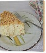 Macadamia Nut Cream Pie Slice Wood Print