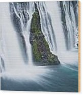 Macarthur-burney Falls 1 Wood Print