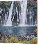 Macarthur-burney Falls Panorama Wood Print