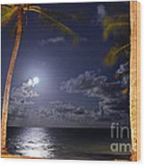 Maceio - Brazil - Ponta Verde Beach Under The Moonlit Wood Print