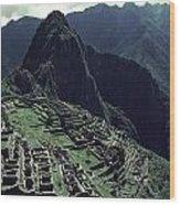Machu Picchu, A Pre-columian Inca Ruin Wood Print