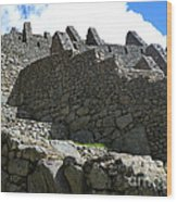 Machu Picchu Peru 12 Wood Print