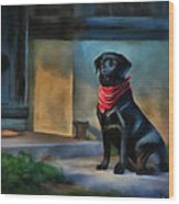 Mack Waits Wood Print by Suni Roveto