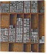 Mackenzie Printery 2 Wood Print