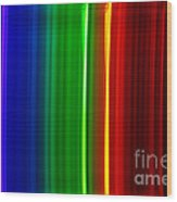 Macro Bromine Spectra Wood Print
