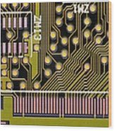 Macrophotograph Of A Circuit Board Wood Print