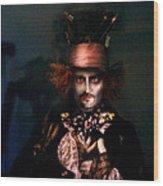 Mad Hatter Wood Print