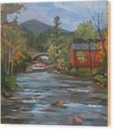 Mad River And Campton Bridge Wood Print