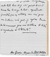 Madame De Stael Letter Wood Print