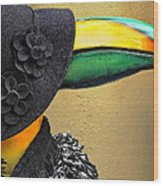 Madame Toucan Of New Orleans Wood Print