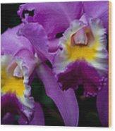 Maddie's Orchid Wood Print