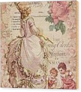 Mademoiselle Couture Wood Print