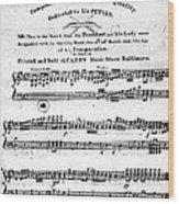 Madison: Inauguration Wood Print