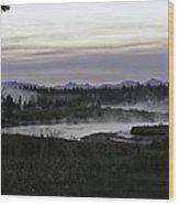 Madison River Morning At Baker's Hole Wood Print