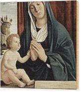 Madonna And Child - Late 15th To Early 16th Century  Wood Print by Giovanni Battista Cima da Conegliano
