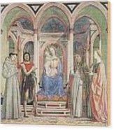 Madonna And Child With Saints Wood Print by Domenico Veneziano