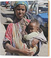 Madonna Of Addis Ababa  Wood Print