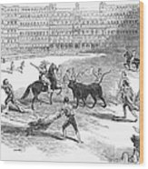 Madrid: Bullfight, 1846 Wood Print