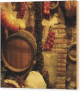 Madrid Food And Wine Still Life II Wood Print