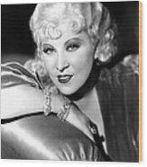 Mae West, Portrait Wood Print by Everett