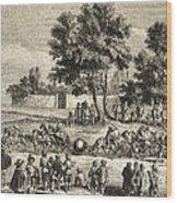 Magdeburg Hemispheres, 17th Century Wood Print