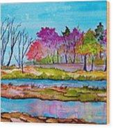 Magenta Woods Wood Print