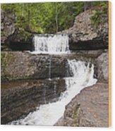Maggies Falls Upper Wood Print