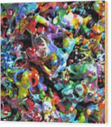 Magic  Colors  Sculpture  Nineteen  Ninety  Nine Wood Print by Carl Deaville