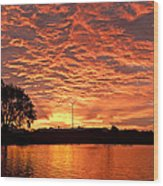 Magic Sunrise Wood Print by Melany Sarafis