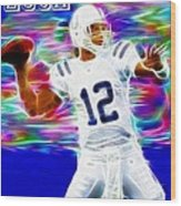 Magical Andrew Luck Wood Print