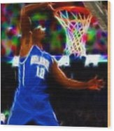 Magical Dwight Howard Wood Print by Paul Van Scott