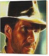 Magical Indiana Jones Wood Print