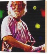 Magical Jerry Garcia Wood Print