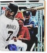 Magical Joe Mauer Wood Print