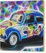 Magical Peace Bug Wood Print